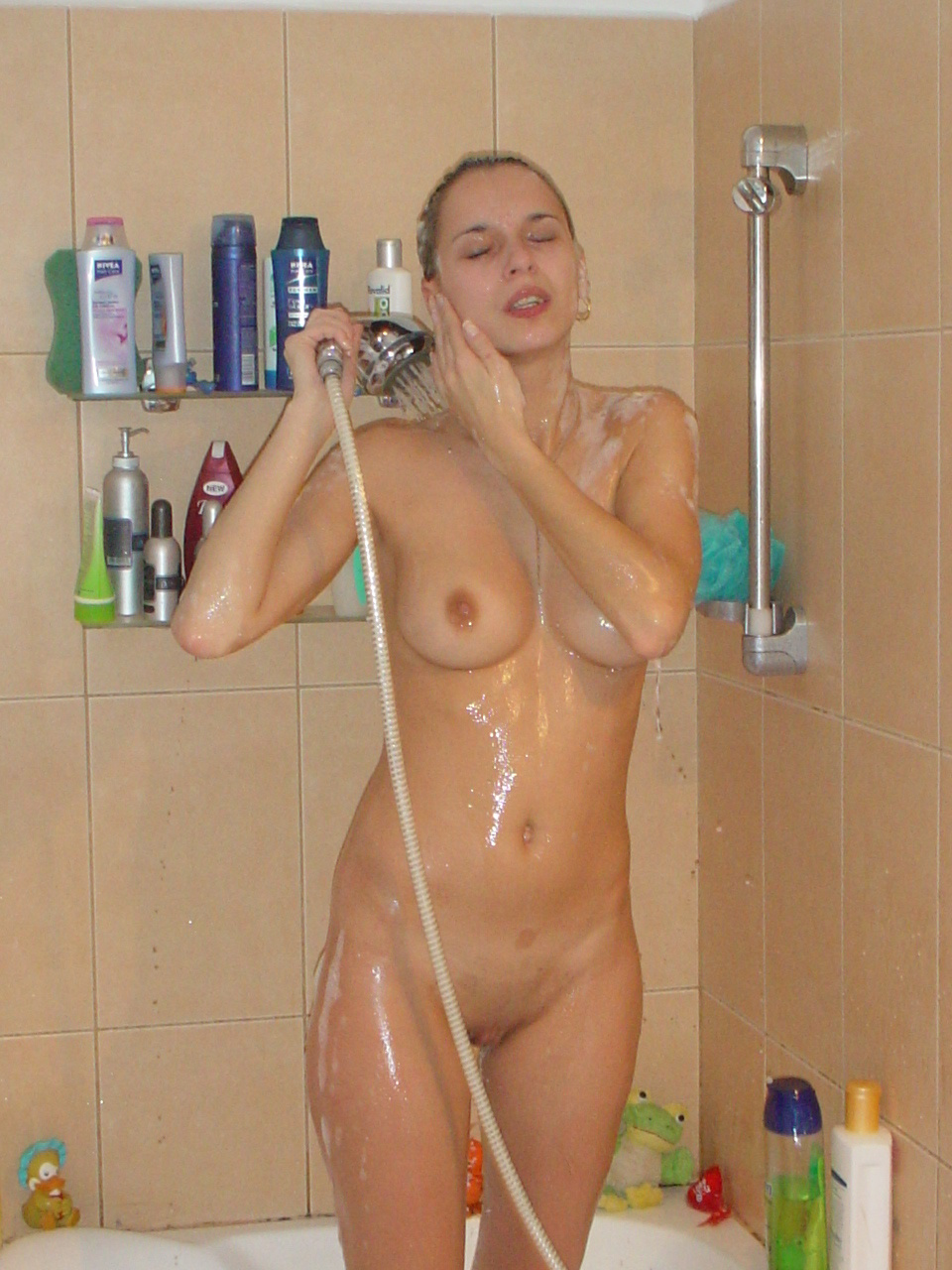 Nude in shower photo