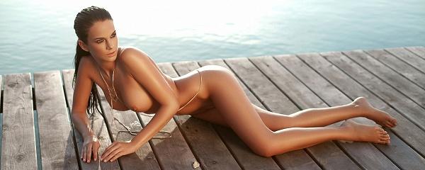 Sophie in black bikini