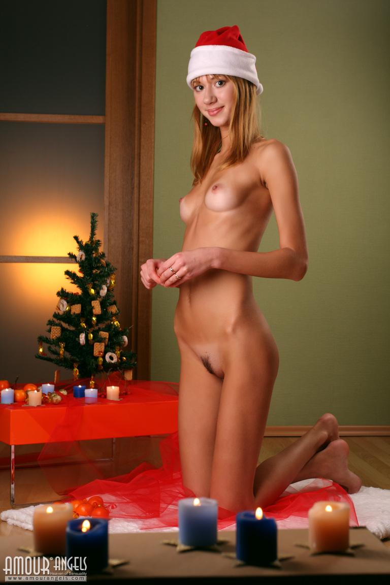 Santa hat nude naked