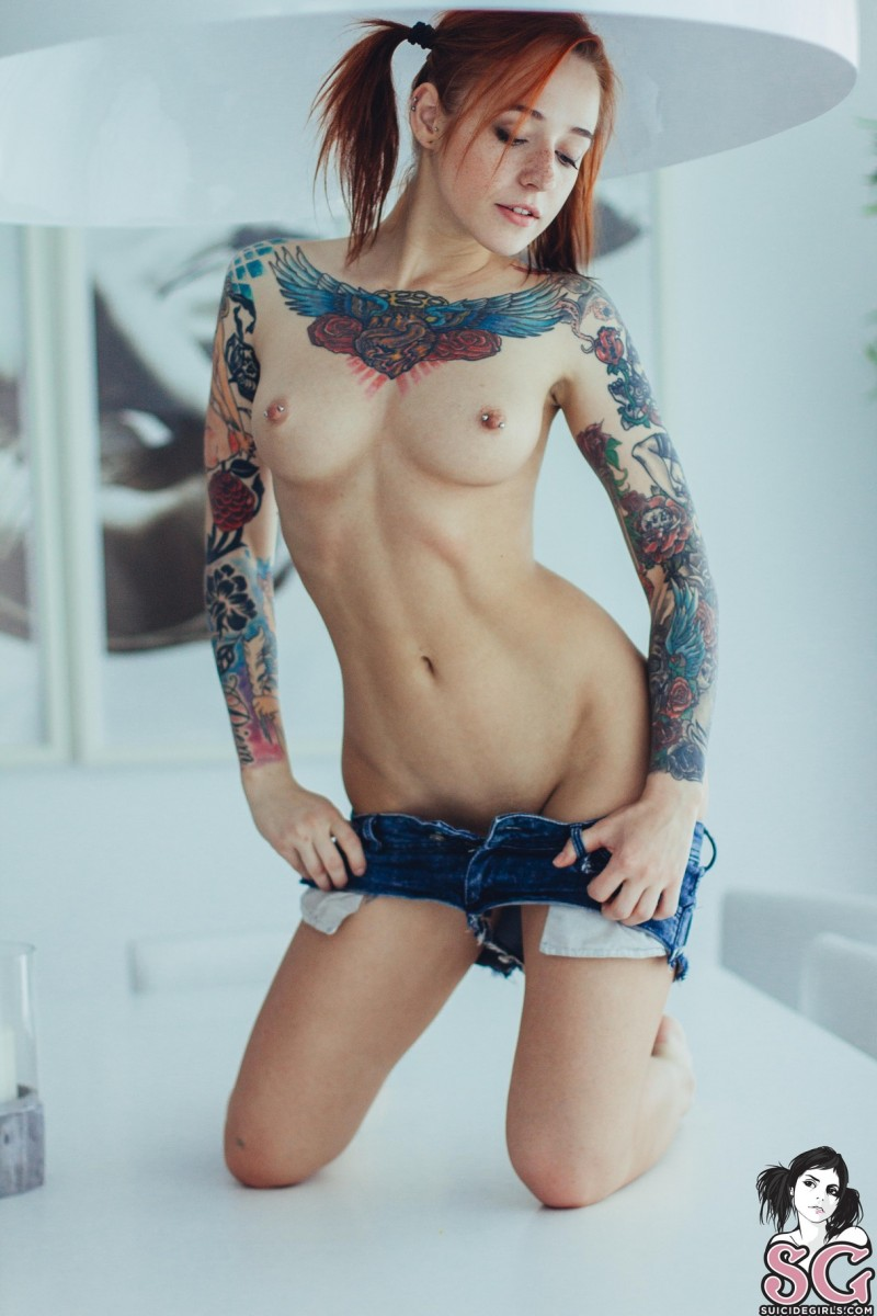 Inked girl sex