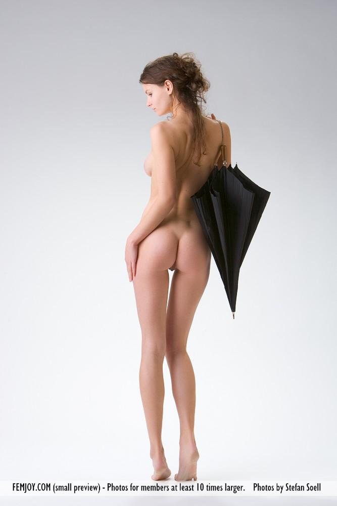 Umbrella girl nude in public theme interesting