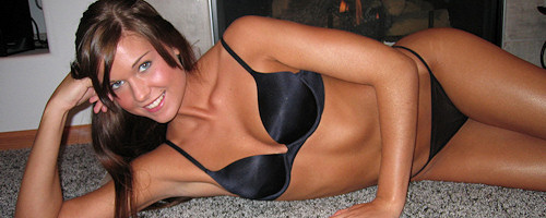 Sweet Adri by the fireplace