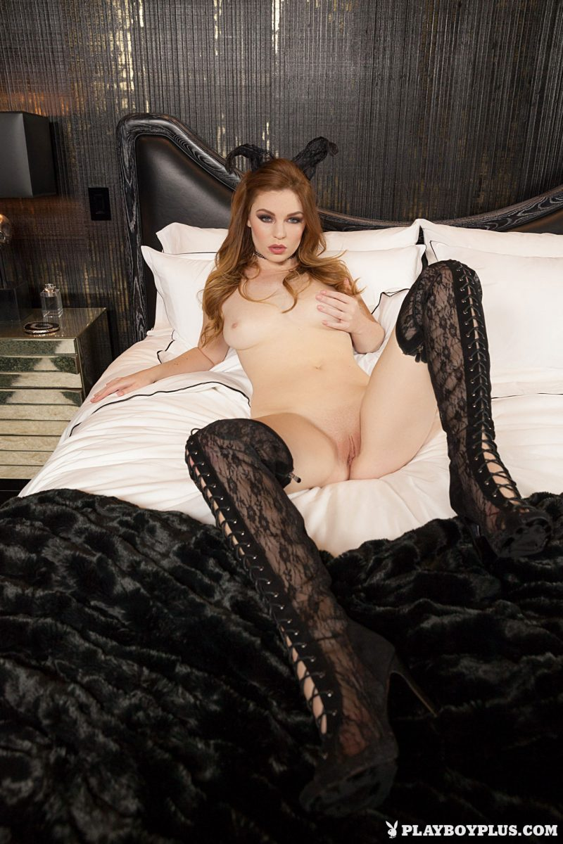 tawny-swain-knee-high-boots-redhead-playboy-13