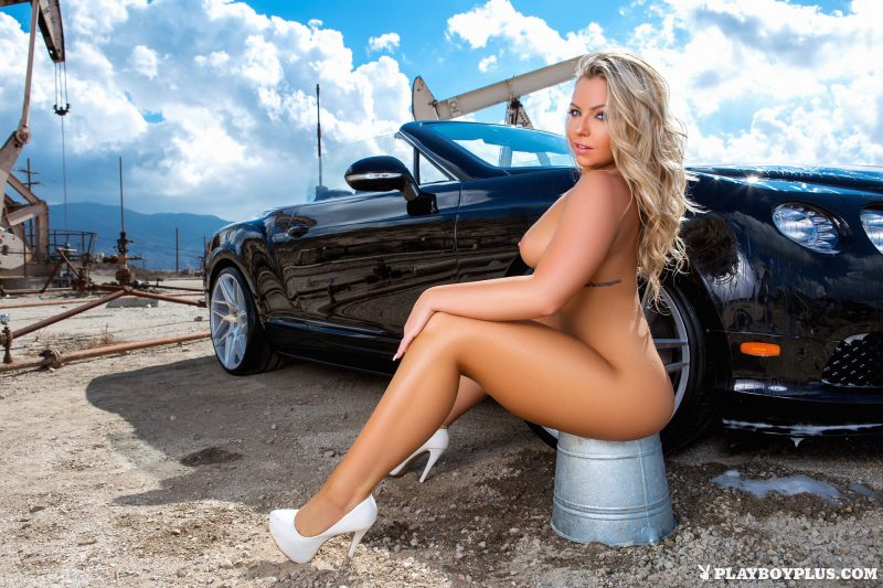 Hot naked girls washing cars
