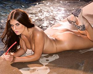 tierra-lee-pool-nude-high-heels-playboy