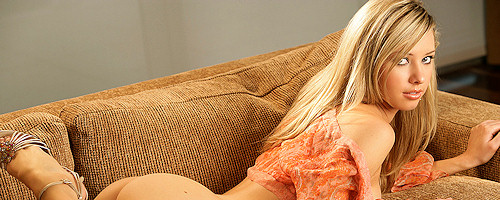 Tiffany Toth on the couch