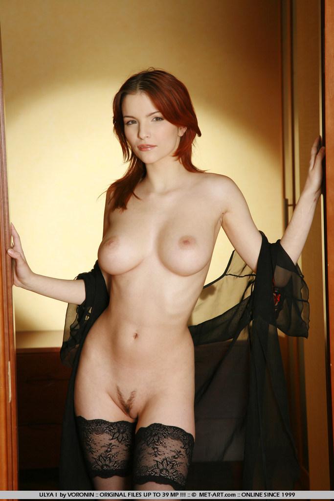 women stockings black Nude in