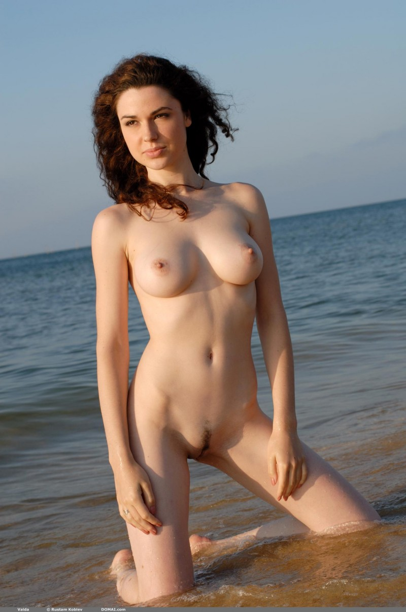 Out the natural boobs on the beach for lovely