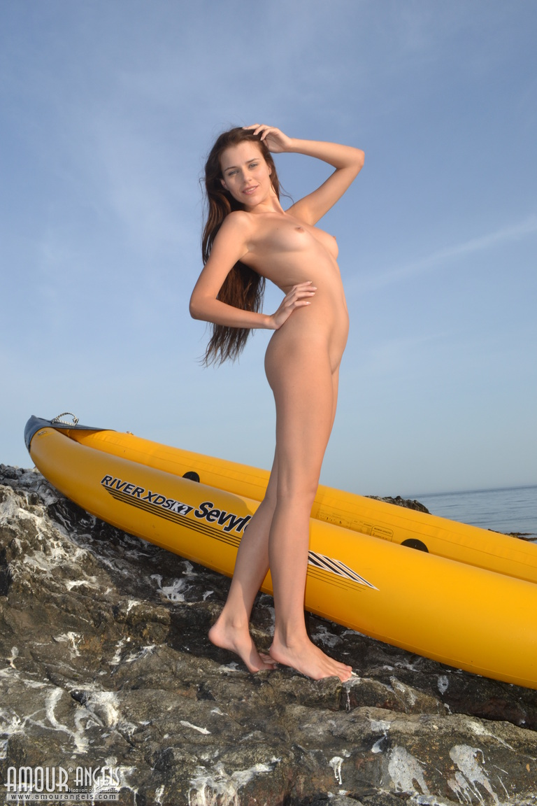alexa-naked-bikini-inflatable-canoe-seaside-amour-angels-16