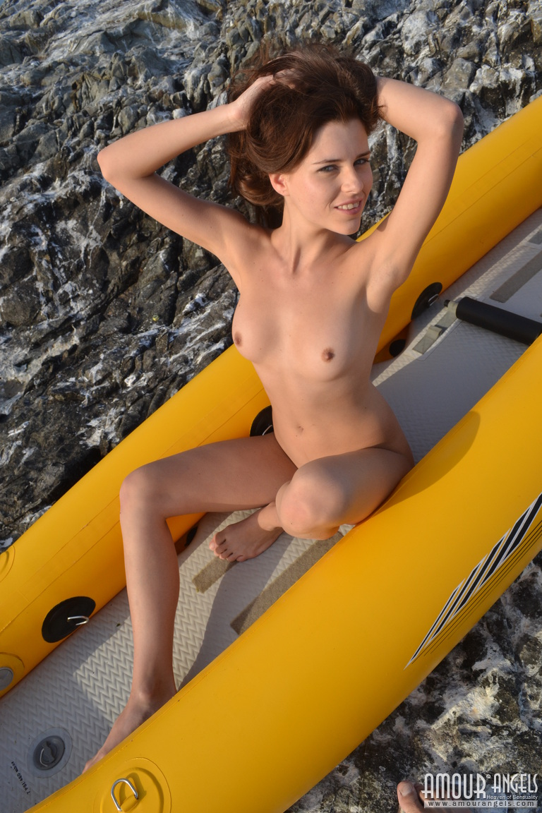 alexa-naked-bikini-inflatable-canoe-seaside-amour-angels-20