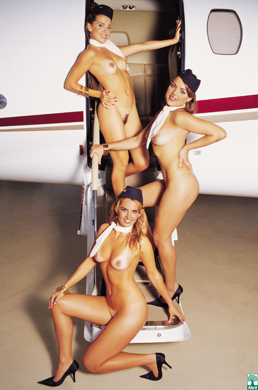 airline stewardess nude Playboy