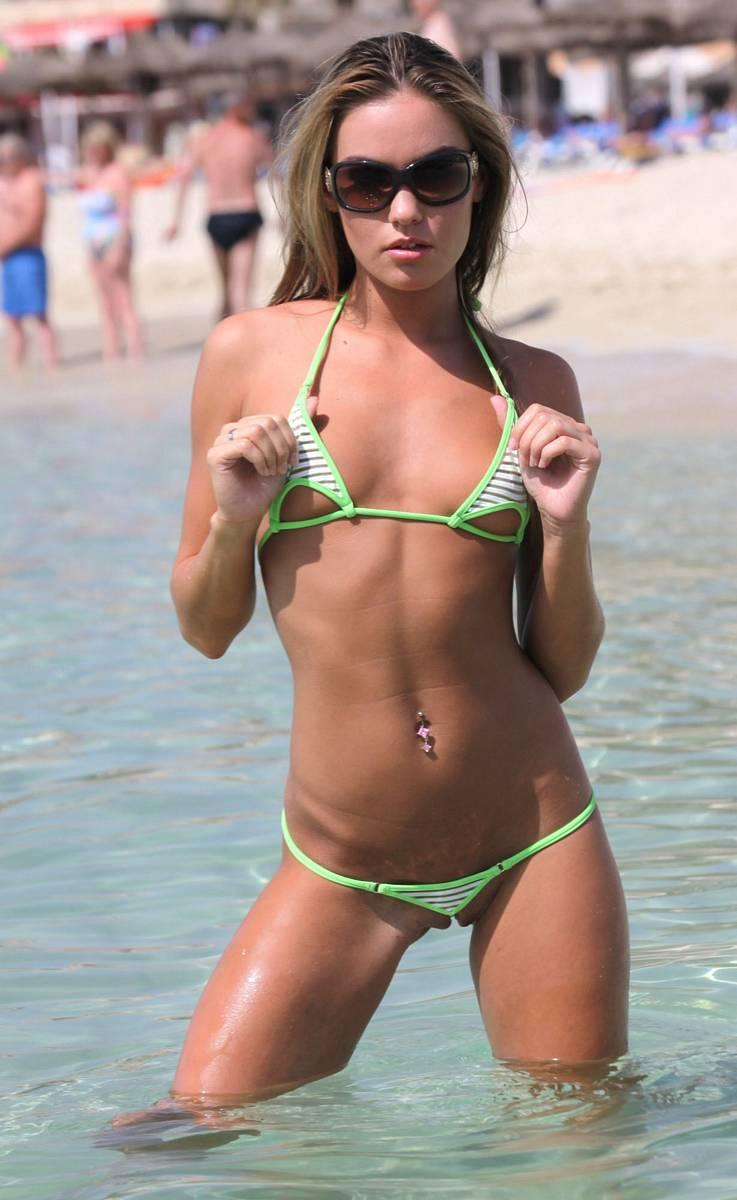 Micro bikini beach nude