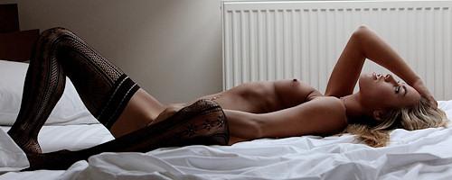 Veronika in black stockings