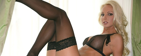 Victoria Cruz in black stockings