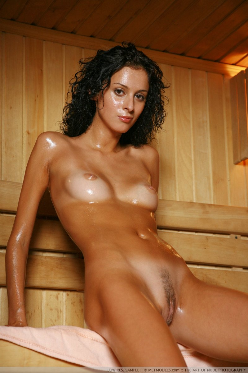 naked oiled women camping