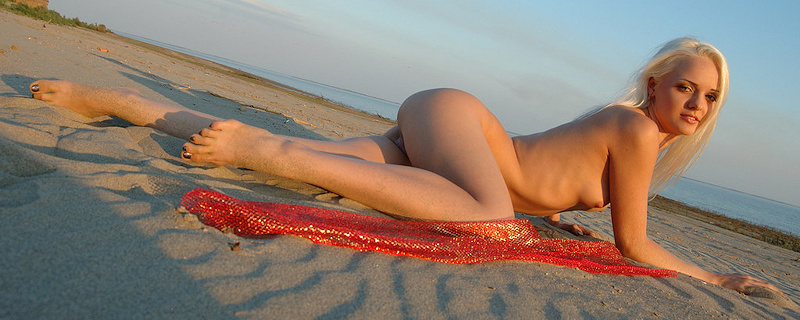 Vika on the beach