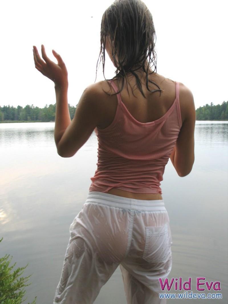 Black girl soaked in cum