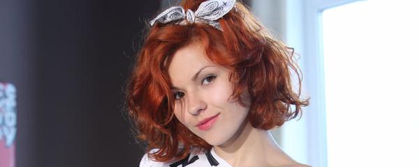 Zarina – Bottomless redhead