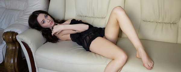 Zsanett Tormay on the couch