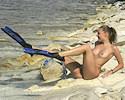 Naked diver girl