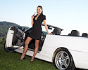 Evelyn Lory and white BMW Cabrio