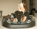 Jana loves go-karts