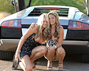 Two girls and Lamborghini