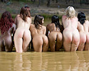 Raft full of girls