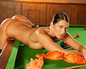 Hot snooker player