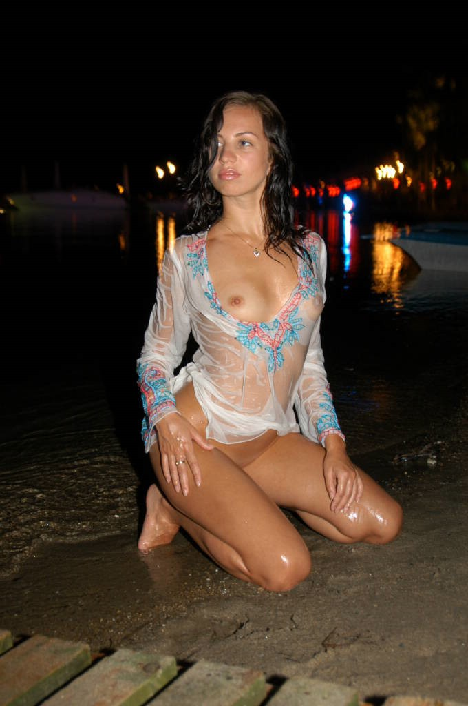 Nice amateur girl on vacations