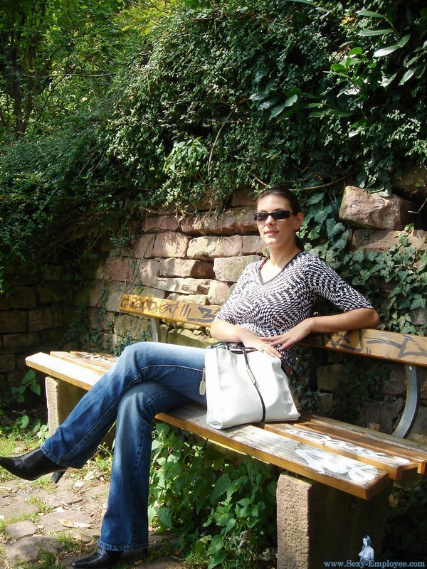 Girl on the park bench