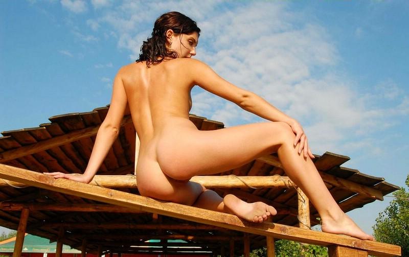 Girl on balustrade