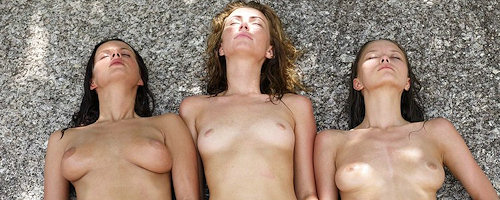 Beach trio