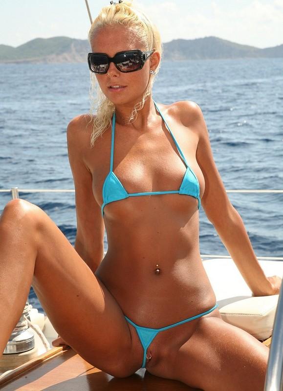 Girls in tiny bikini