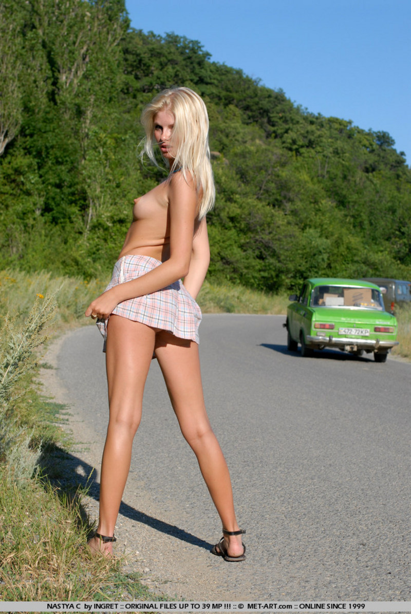 Blond hitchhiker