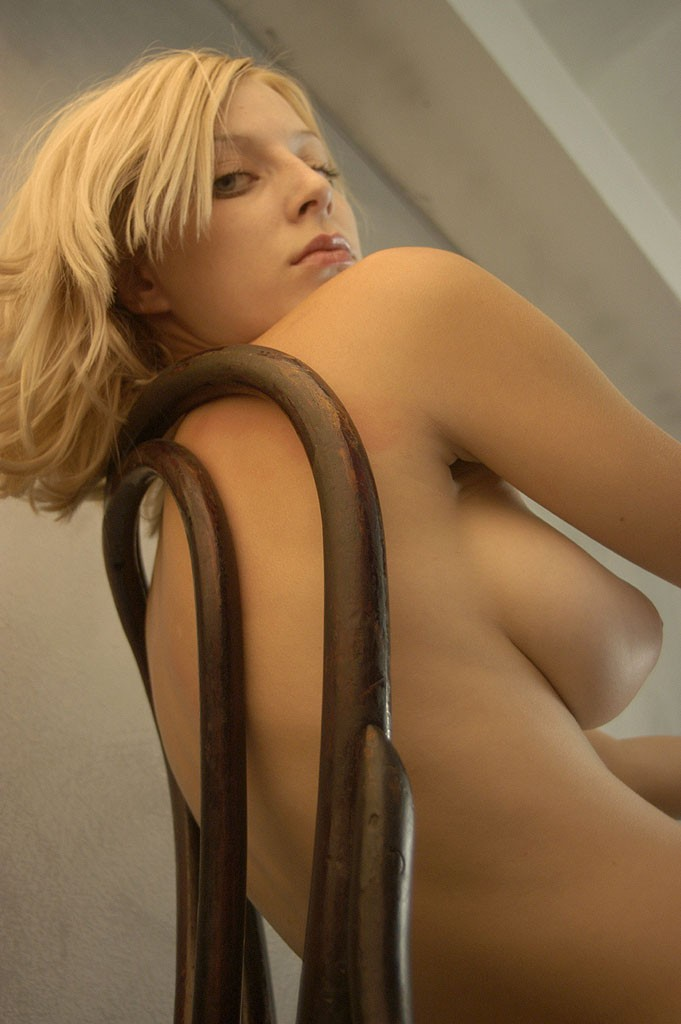 Blonde on the chair