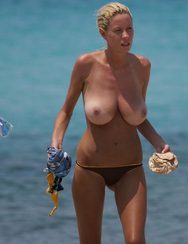 Busty beach girl