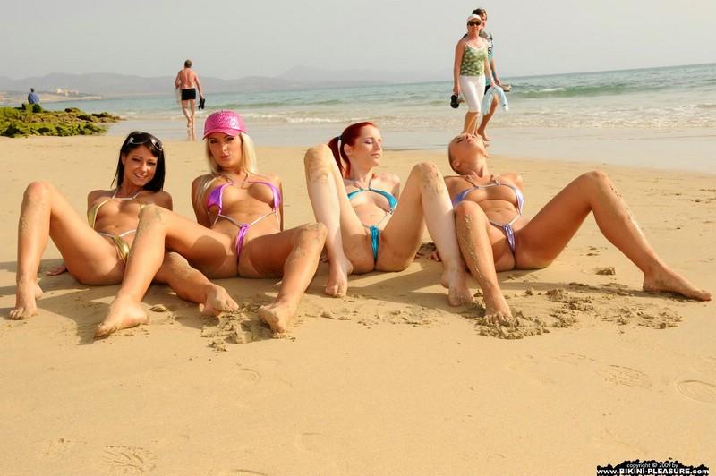 Four sexy girls in bikini