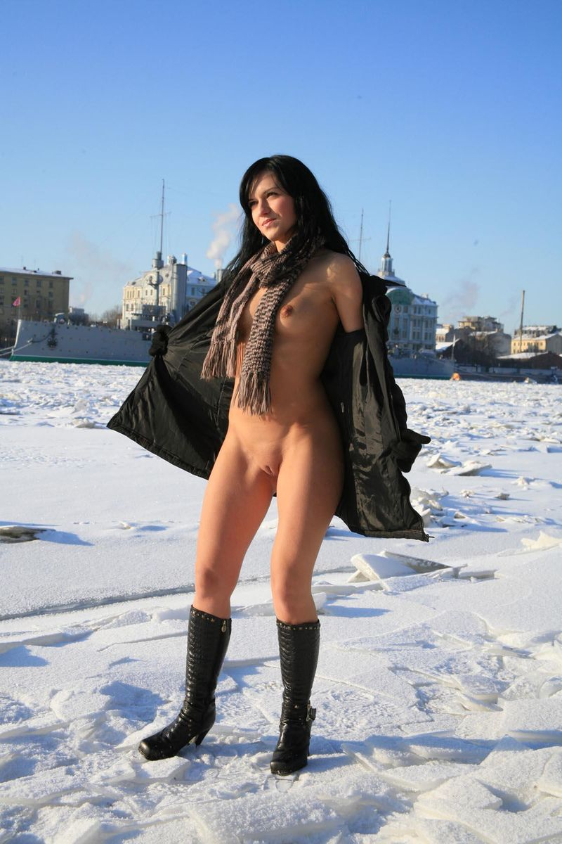 Frozen girl naked