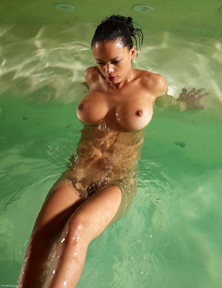 Gabriela in the pool