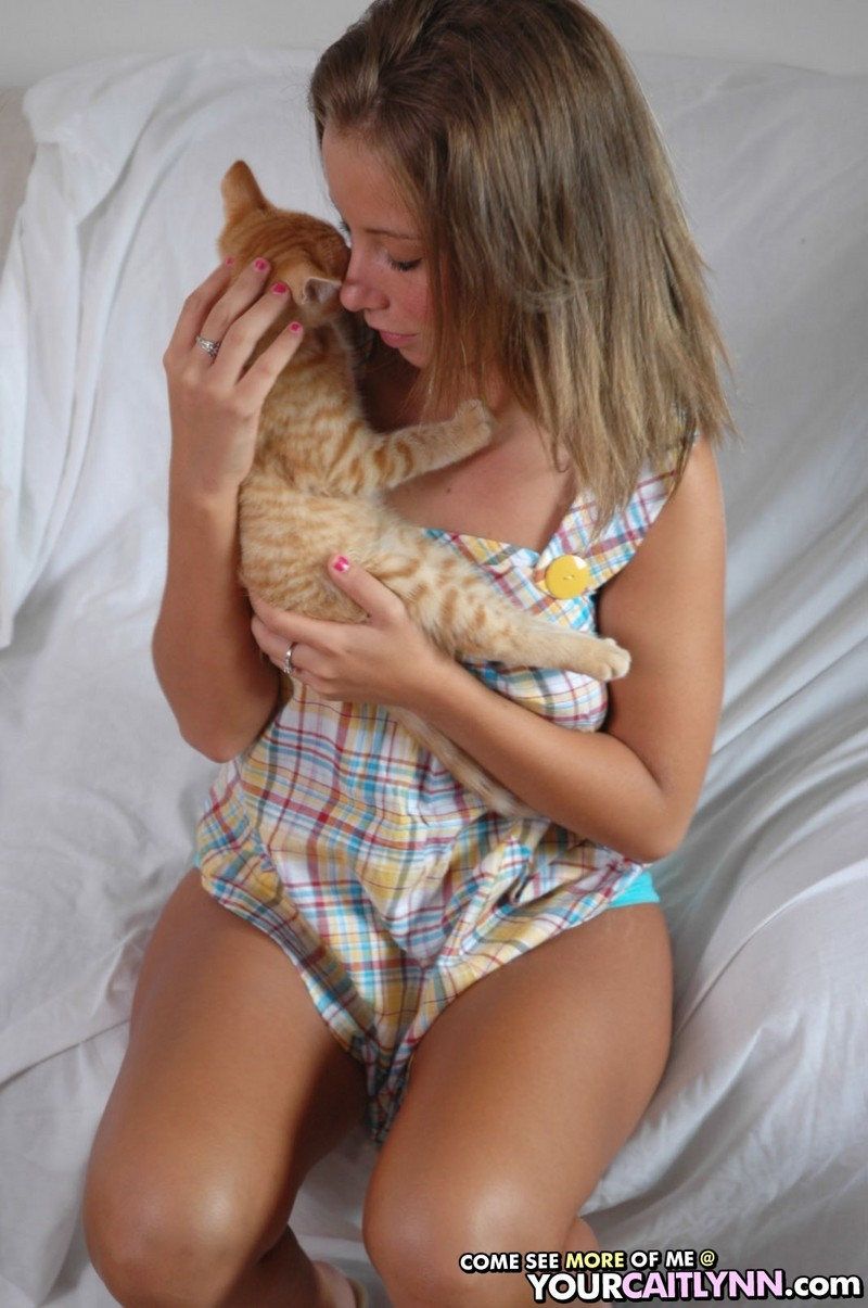 Caitlynn and her kitten