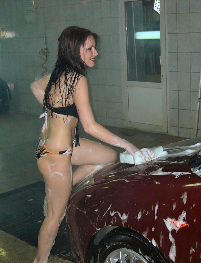 Girls in carwash