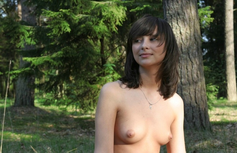 Girl nude in woods