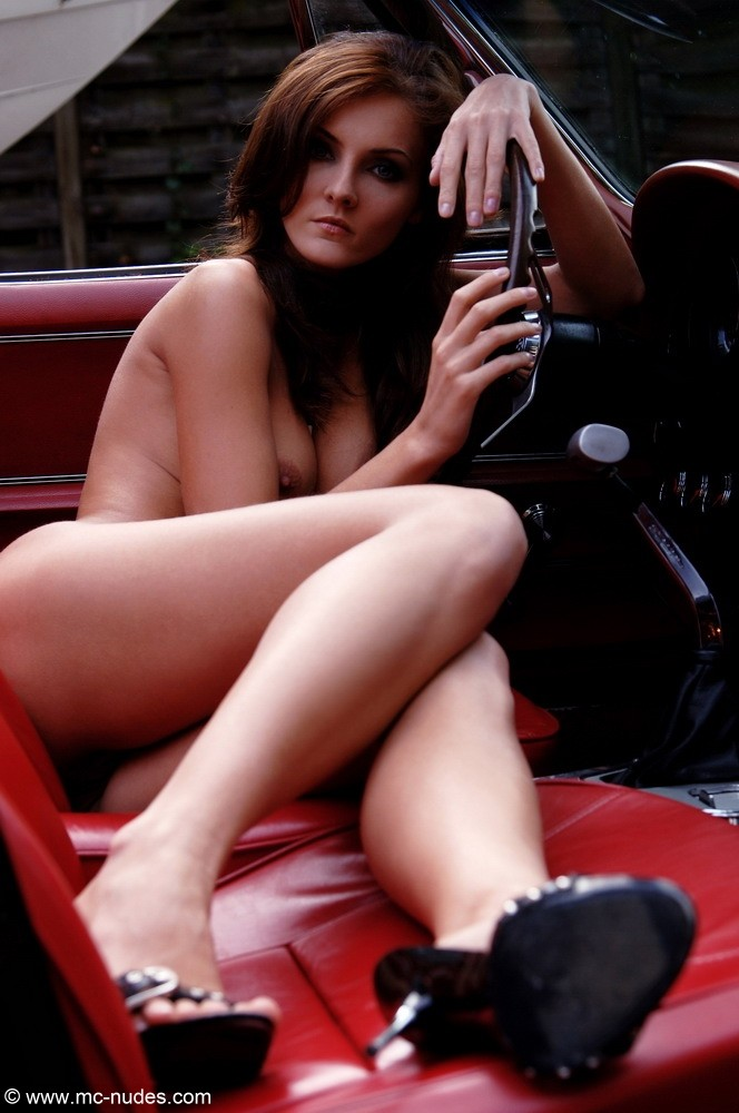 Ivette and old Corvette