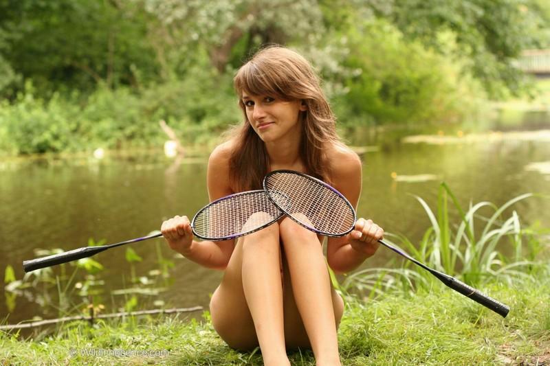 Larissa and badminton rackets