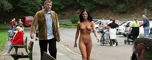 Long walk naked