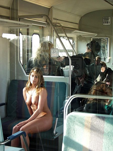 Naked in train