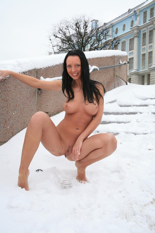 Nude girl in the snow excellent answer