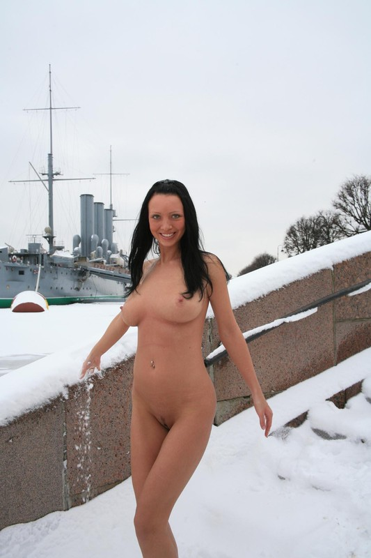 Naked on snow