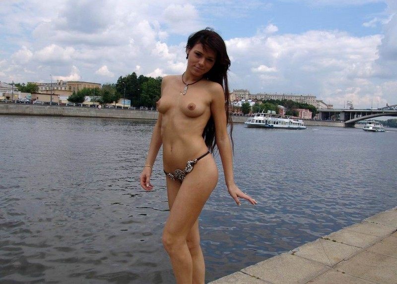 Russian girl by the river